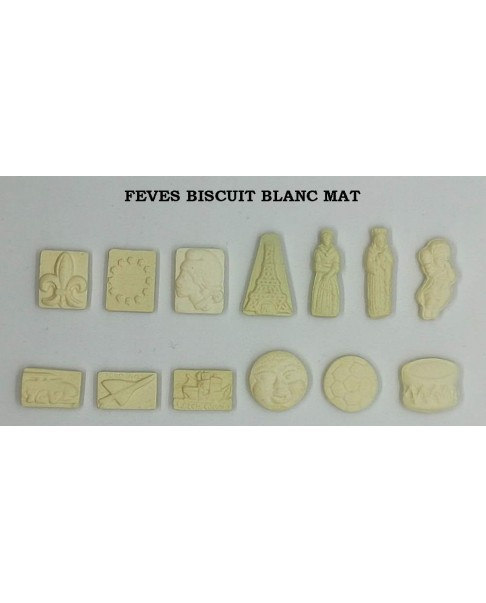 Biscuit fèves white matte