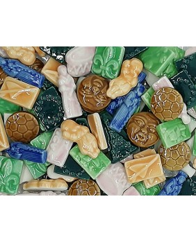 Biscuit fèves color enamel (100 pieces box)