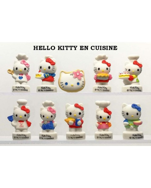 Hello kitty in the kitchen