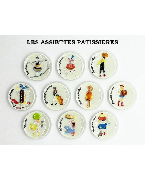 The pastry plates