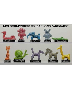 "The sculptures in balloons ""animals"""