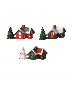 Christmas cottage x3