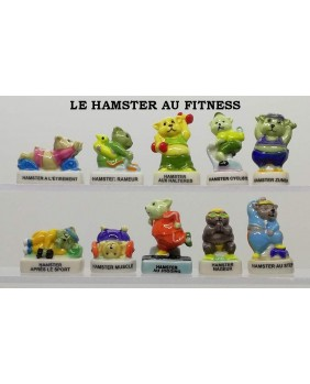 Hamster at the fitness