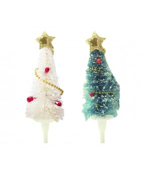 Chenille fir tree x4