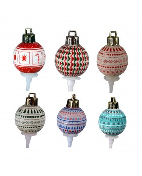 Deco motif bauble x6