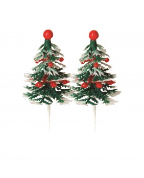 Bauble fir tree x4