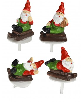 Christmas elf on sleigh x4