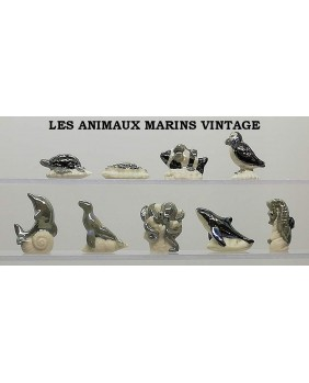 Vintage sea animals