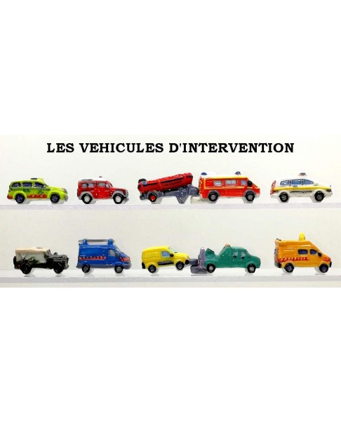 The intervention's vehicles