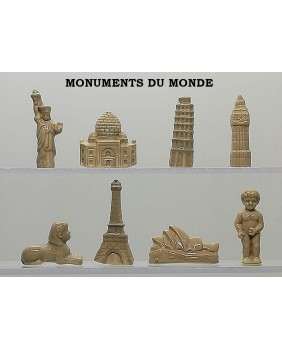 Monuments from the world - box of 100